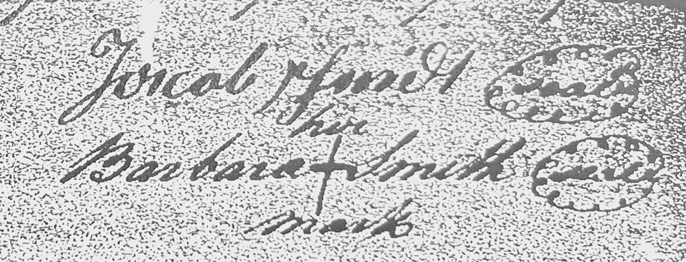 signature of Jacob and Barbara Schmidt